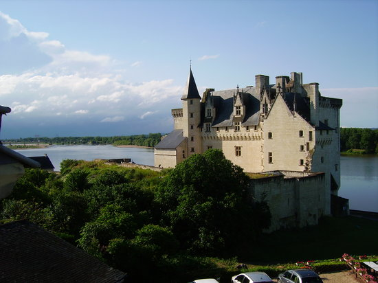 Montsoreau, Francúzsko: view from Hotel le Bussy