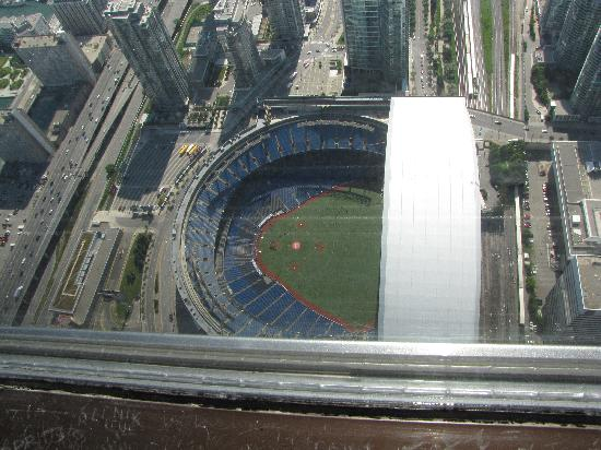 Rogers Center With Roof Open Picture Of Cn Tower