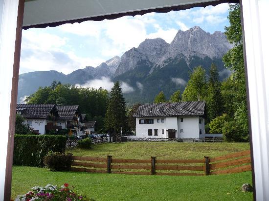 Hotel Garni Wetterstein: View from Room 3