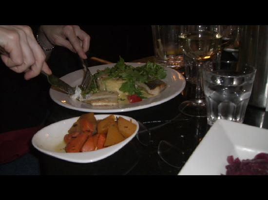 The Bothy: Dinner with side of carrots and neeps