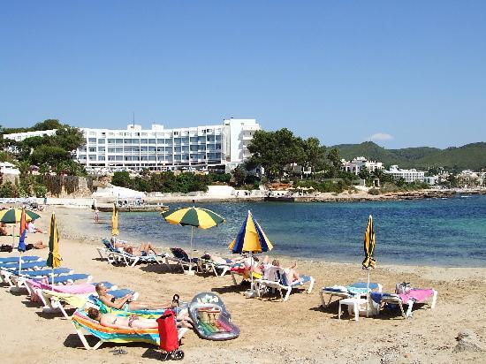 Palladium Hotel Don Carlos: Hotel viewed from the beach