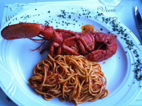 Golden View Open Bar: Lobster spagetti
