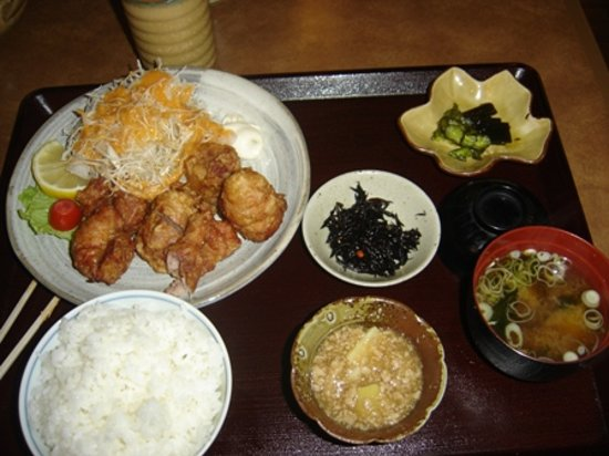 Sakura Restaurant: deep-fried chicken set