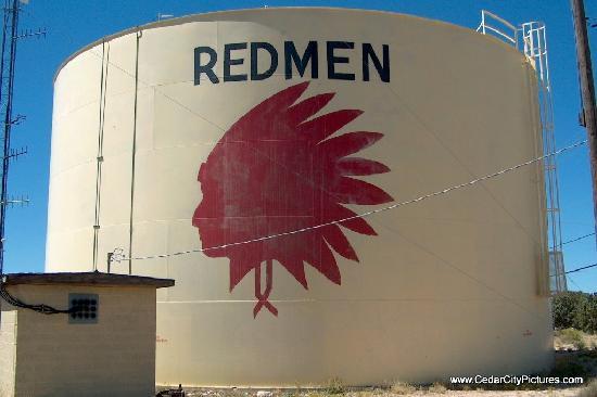 Cedar City High School Redmen Water Tank
