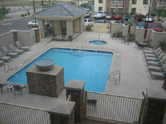Hilton Garden Inn Phoenix/Avondale: Swimming Pool, Viewed From Room # 231~June 2009