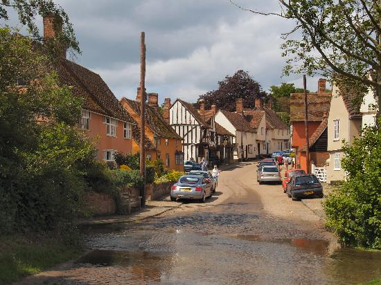 Графство Саффолк, UK: Kersey, Suffolk - the ford