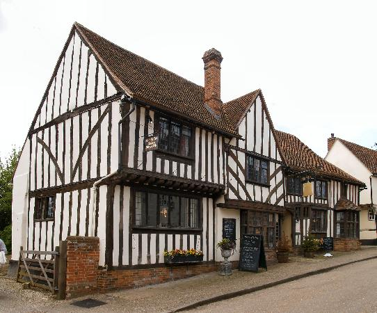 Графство Саффолк, UK: Kersey, Suffolk - the Bell Hotel