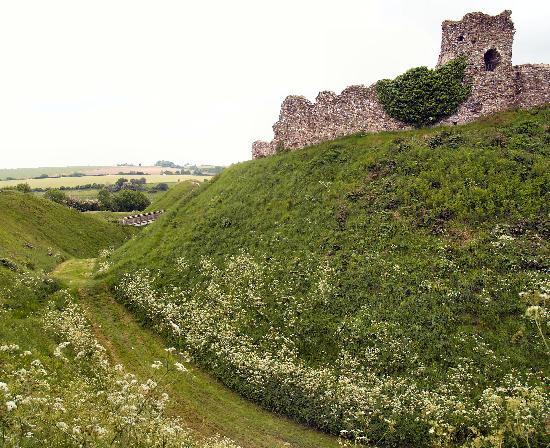 Castle Acre, showing the moat