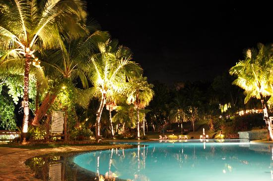 Alegre Beach Resort: Pool area at night