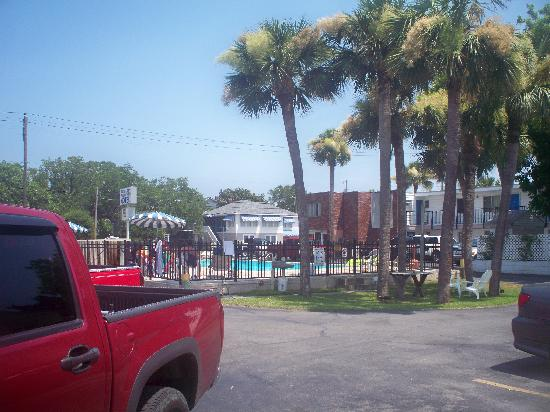 Royal Palm Motel: view from our room of the pool