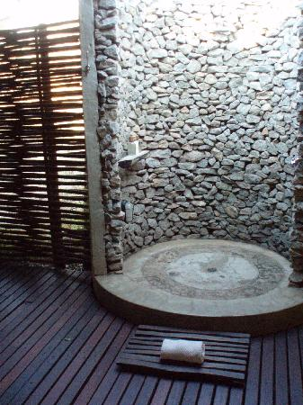 Loved The Outdoor Shower And Luxurious Long Bath Tub