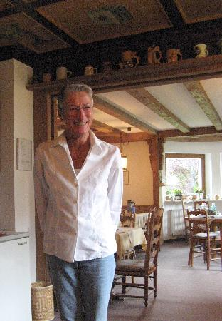 Haus Florian: Our wonderful hostess, Gabriel (Gaby)