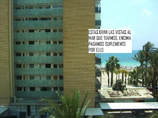 Hotel el Palmeral: Por esto pagamos suplemento por vistas al mar