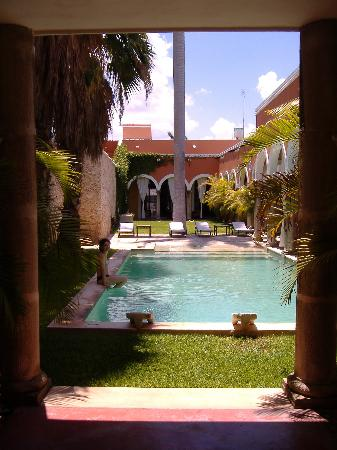 "Hotel Hacienda Merida: View from the room, ""Our own"" pool..."