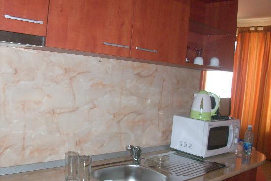 Hotel Palazzo: kitchen area- minus plugs