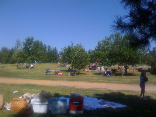 Hastings, Миннесота: A view of the expansive lawn, perfect for a picnic