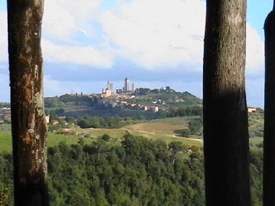 Villasanpaolo: San Gimignano from our Balcony