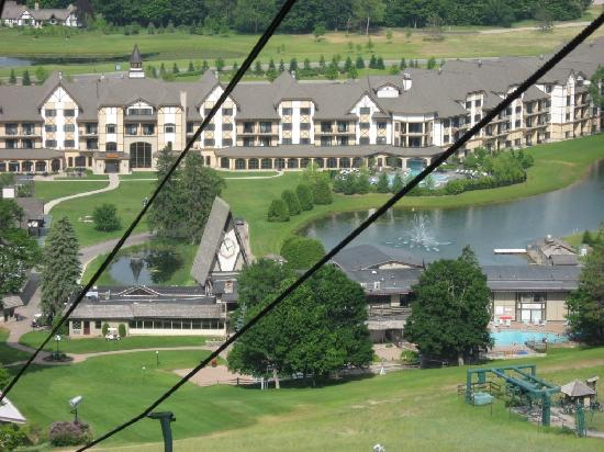 Mountain Grand Lodge and Spa: Resort from Ski Lift (in June)