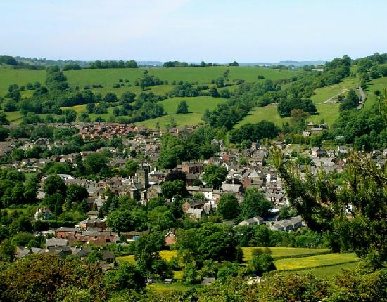 A view of Wirksworth looking from Bolehill