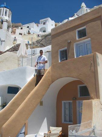 Kallisti Hotel: entry stairs