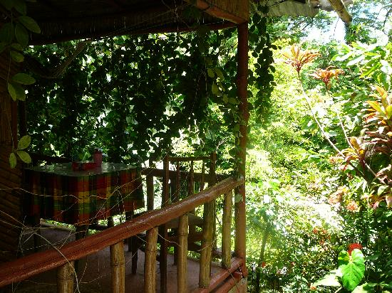 Tia Bamboo Cottages: Balcony