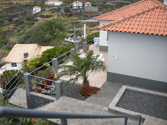Calheta, Portugal: Looking down onto the sun terrace of Casa Palmeira