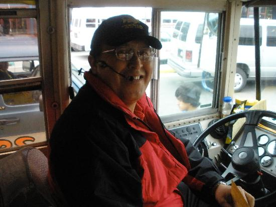 Gold Creek Salmon Bake : Our driver name Royal back to the ship - great personality!