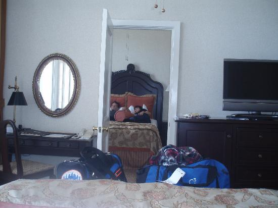 Hotel del Coronado: from one room looking into the other