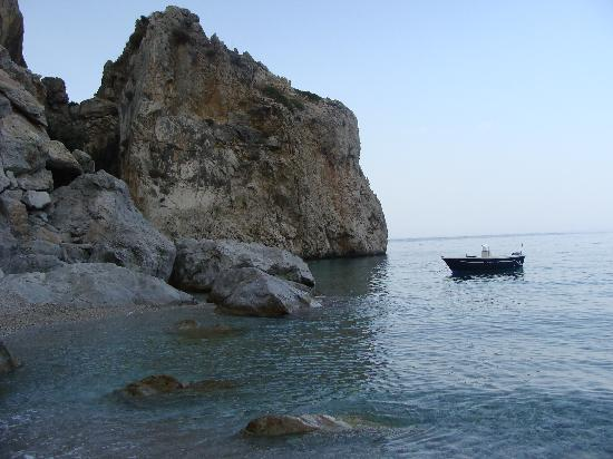 Kyra Panagia: The beach at Kira Panagia