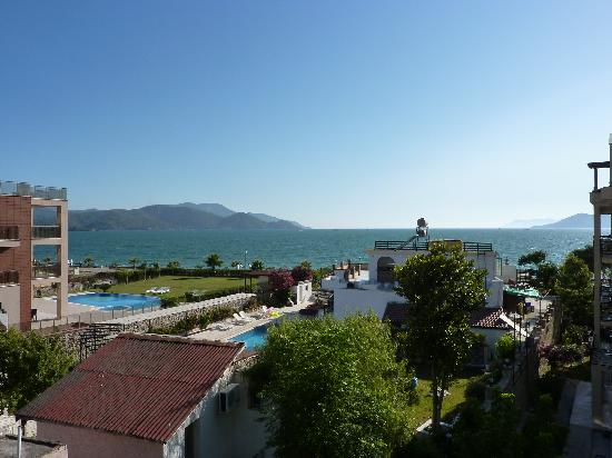 Calis Beach: View from Sunset Apartments