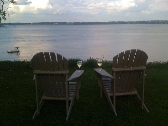 Geneva on the Lake: The adirondack chairs overlooking the lake.