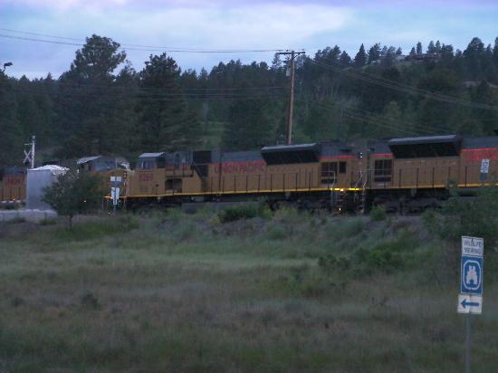 Elizabeth Lake Lodge: large freight train