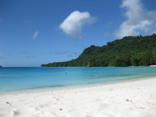 Luganville, Vanuatu: Champagne beach (photo taken by me - amazingly, it was raining everywhere else on the island)