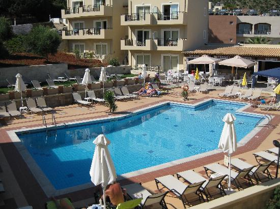 Stalis, Greece: view of pool from side balcony