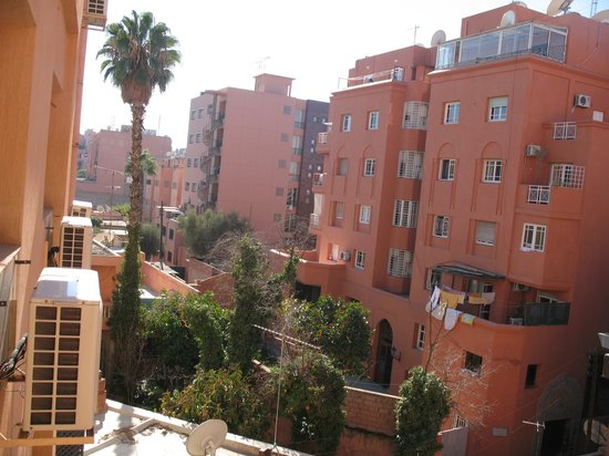 Hotel Hicham : view from our window