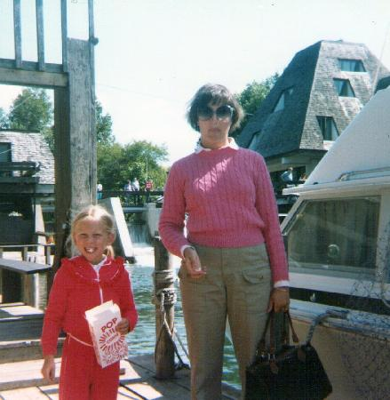 Fountain Point Resort: Me and mom in Fishtown (circa 1984)