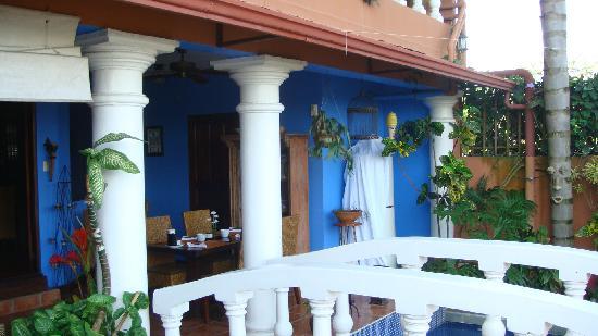 Casa Bella Rita Boutique Bed & Breakfast: back terrace