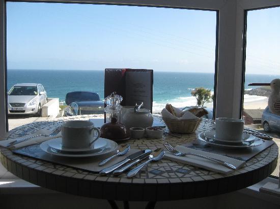 Ten Ocean View: Breakfast table with view