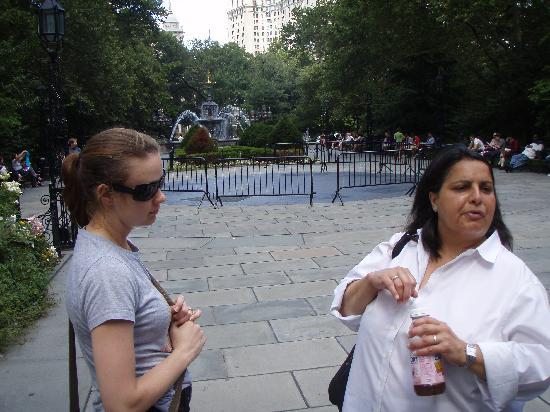 Gotham Walking Tours of New York City: Lina giving Amanda a rundown on Civic Park