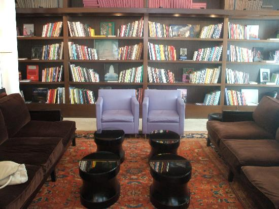 The Mercer Hotel: Hotel lobby and library