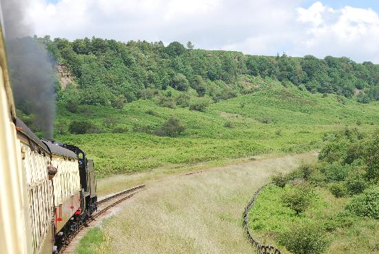 Rains Farm Holidays: Pickering to Whitby steam train.