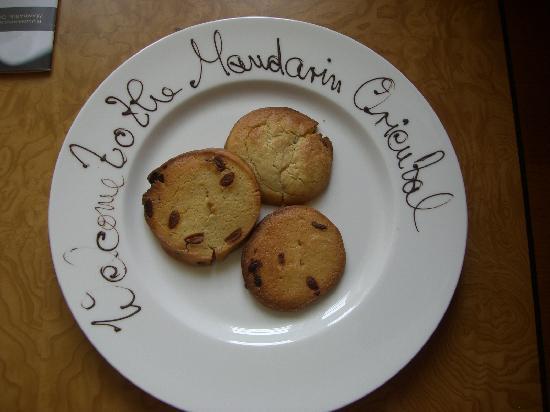 Mandarin Oriental, München: Welcome Cookies