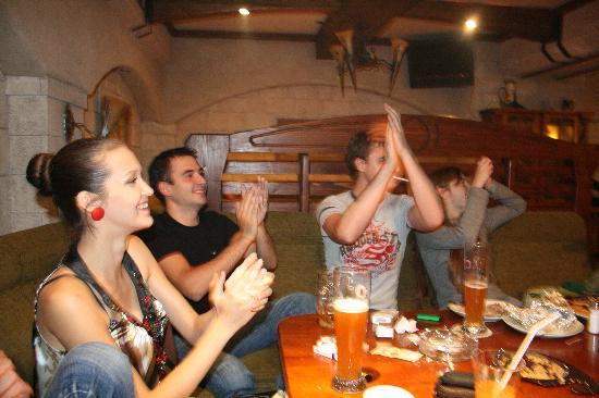 Bier Platz: a group of friends