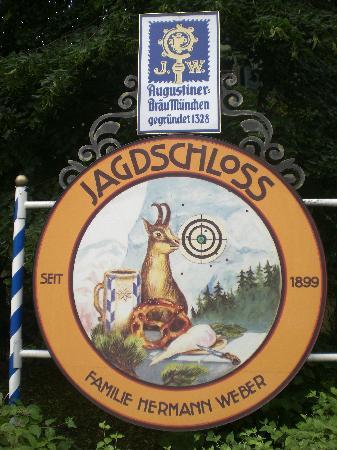 Jagdschloss: hotel sign
