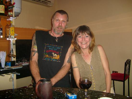 JJ's Bar and Restaurant : Axle and Julie..the owners..and now friends