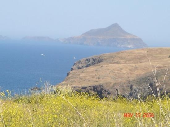 Channel Islands National Park, CA: View of Anacapa from Smugglers cove hike