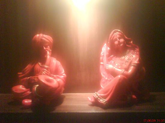 Hotel Silver Oak: The statues inside Sumukha