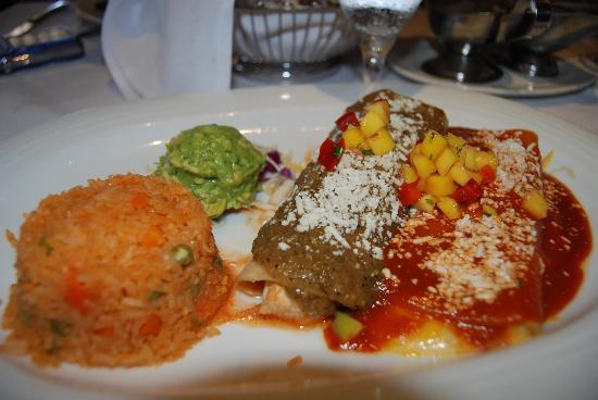 Las Brisas: chicken enchiladas 7-09