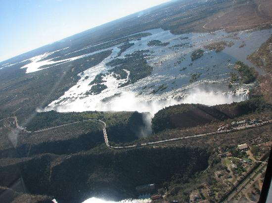 AVANI Victoria Falls Resort: VicFalls from helicopter