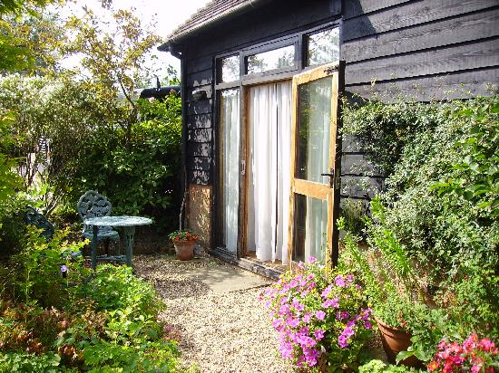 """Becketts Bed and Breakfast: """"My"""" private garden minus book and bottle of wine"""